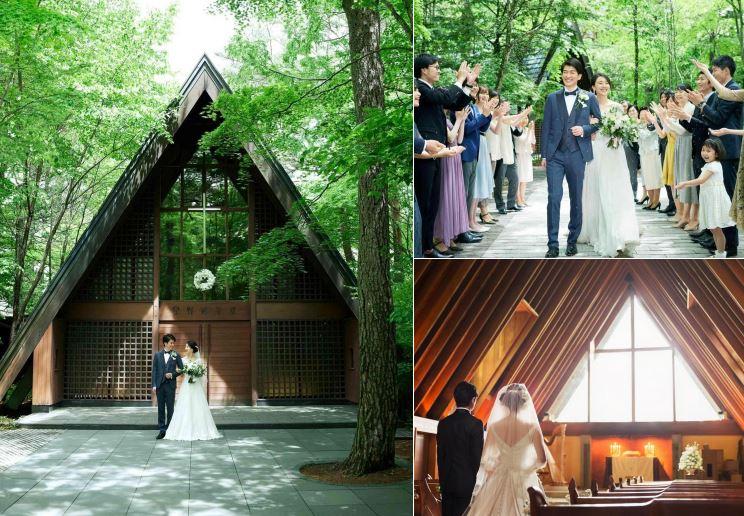 滝川クリステルと小泉進次郎が挙げた結婚式場「軽井沢高原教会」の写真